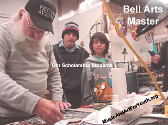 Bell Arts Master Artist With Our Scholarship Students